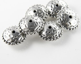 6pcs Oxidized Silver Tone Base Metal Spacers-Saucer 22x10mm (9737Y-G-272)