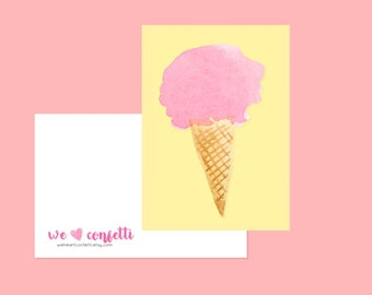 Ice cream postcard - weheartconfetti