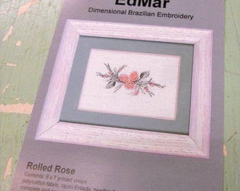 Rolled Rose (1227)...EdMar kit...Brazilian embroidery