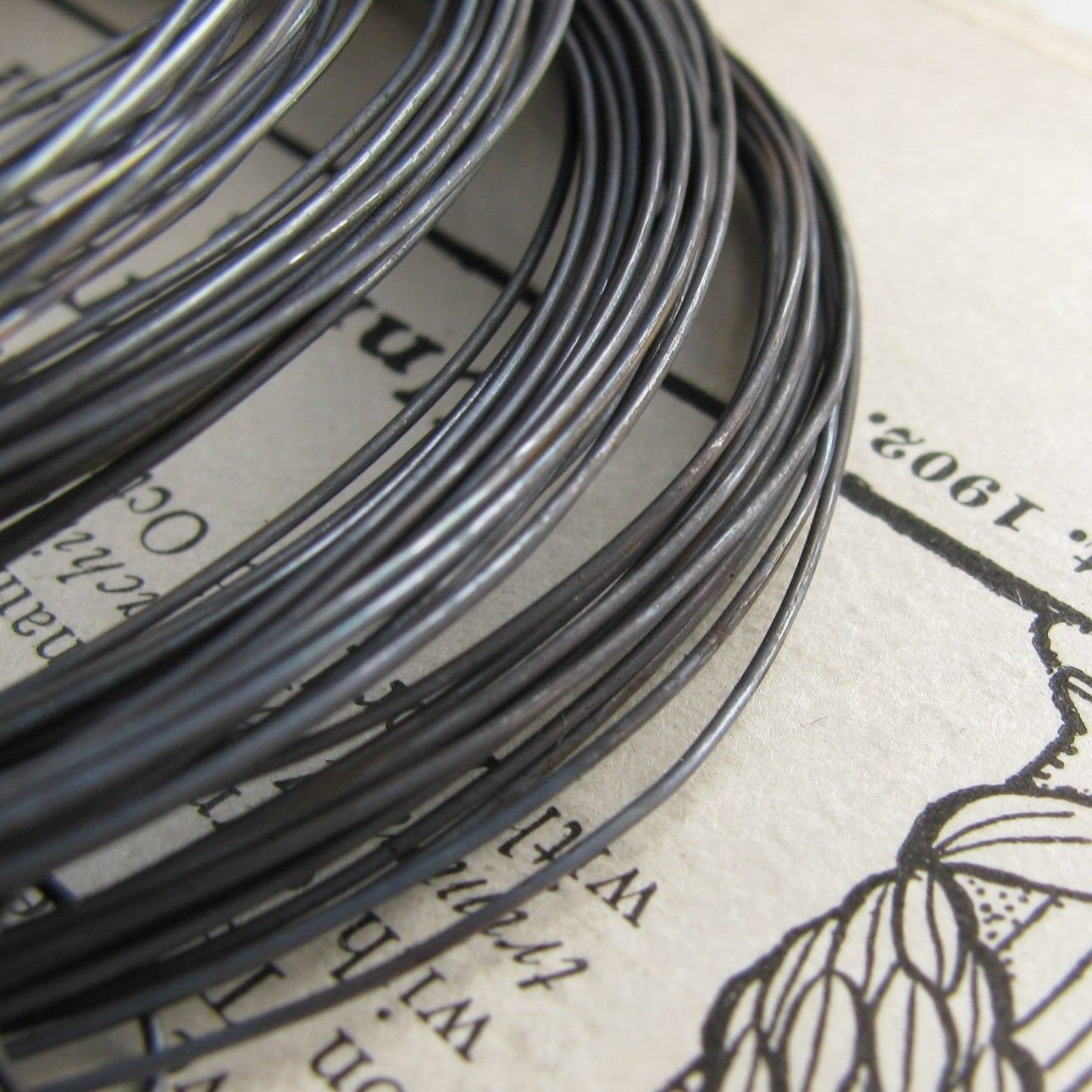 24 gauge wire aged rustic black patina hand antiqued wire