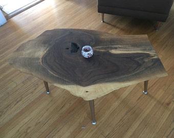 One of a kind Live Edge Walnut Coffee Table