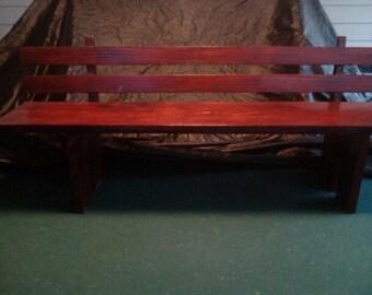 Red Oak Bench Shelf