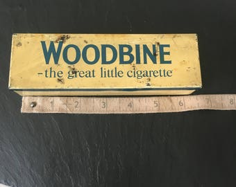 Vintage Will's Woodbine bakelite dominoes in tin