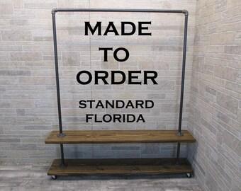 Clothing rack, garment rack, clothes rack, Florida STD, made to order clothing rack