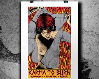 Karma to Burn - Silkscreen Gigposter - 2017