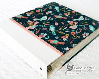 5 Year Baby Memory Book  - Birds and Floral