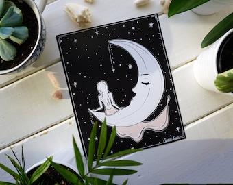 Moonlight Reflection Art Print