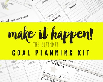 Goal Planning Printable Worksheets
