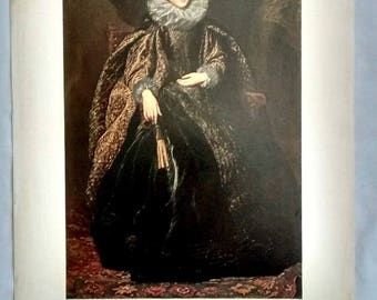 Vintage Anthony van Dyck Marchesa Balbi Art Print, Baroque