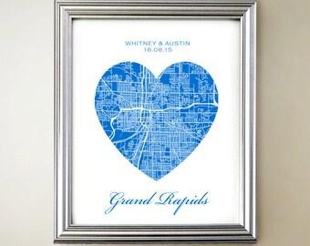 Grand Rapids Heart Map