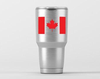 Canadian Flag / Yeti Decal / Vinyl Decal / Yeti Tumbler Decal / Yeti Cup Decal / RTIC / * Tumbler Available *