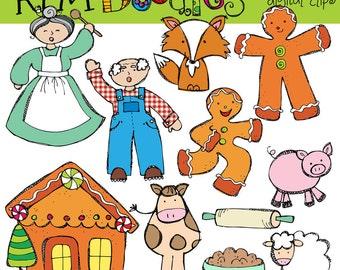 KPM Ginger bread boy story Clip art