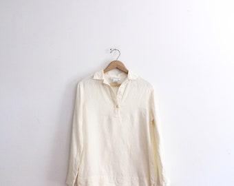 Minimal Linen 90s Tunic Shirt