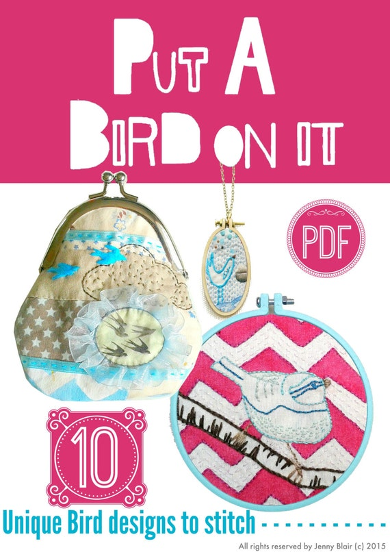 Bird Embroidery Pattern Pdfhand Embroidery Designrd