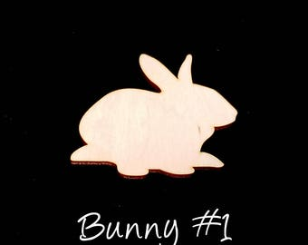 Set of 10 Easter Bunny Craft Supply - 1/8 inch thick laser cut rabbit shape, baltic birch ply - kids crafts, decoration, art project