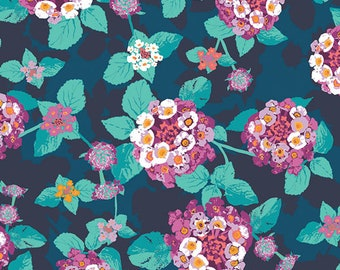 Art Gallery: Mediterraneo by Katarina Roccella Lantana Teal Cotton Woven