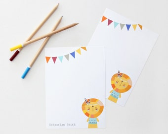 Set of 18 Personalized Flat Note Cards. Many designs to Choose from!