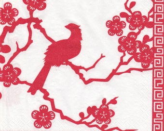 060 SILHOUETTE bird Japan 1 towel paper large format