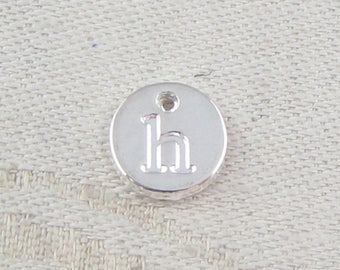 1 or 5, Initial Charm, Charm Bracelet, Lower Case Letter, Silver Letter, Initial Pendant, Alphabet Charm, Lower Case Charm, ALF021h-PL