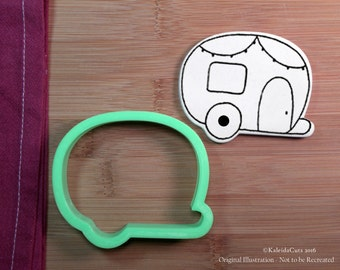 Camper Cookie Cutter. Tree Cookie Cutter. Christmas Cookie Cutter. Baking Gifts. Baby Shower Cookies. Camping Cookie Cutter.