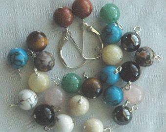 Interchangeable Sterling Silver Leverback Earrings - 6 Pairs, Interchangeable gemstone dangle, Interchangeable Earrings, Leverback Earrings