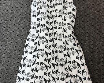 Panda Novelty Print Cute 1960s  Dress