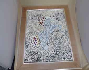 Framed Mosaic Horse Unicorn Picture