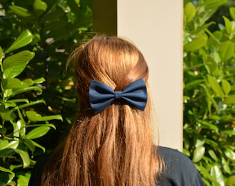 Navy blue hair bows,girls hair bows,bows for girls,navy blue bows
