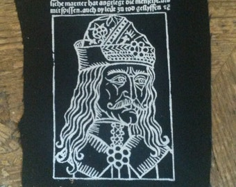 Vlad of the Impaler, patch after historical woodcut.
