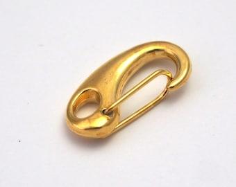 Hook brass 21x11mm