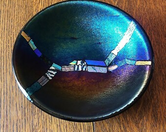 Dichroic Fused Glass Bowl