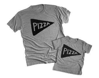 Father son matching Pizza shirts, Fathers day gift from daughter, dad matching, fathers day, graphic tees, dad baby matching set, dad gift