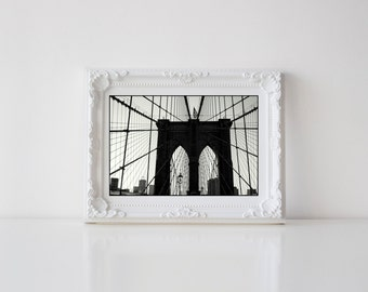 Brooklyn Bridge Postcard. Brooklyn Bridge Photography. New York City Postcard. New York City Photography. 4x6 Photo Postcard.