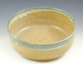 Large Pottery Serving Bowl, Rustic Fruit Bowl, Kitchen Gift, Pottery Home Gift, Low Fruit Bowl, Ceramic Bowl, 8  Inch Pottery Baking Bowl