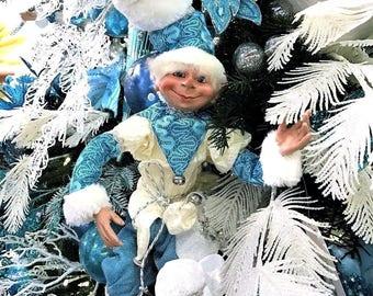 """Floridus 30"""" """"FROZT"""" Elf (White & Blue) FLO-XN709000"""