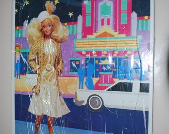 Barbie Golden Frame Tray Puzzle 1991