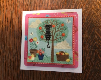 Fabric Cat Card's - see variations