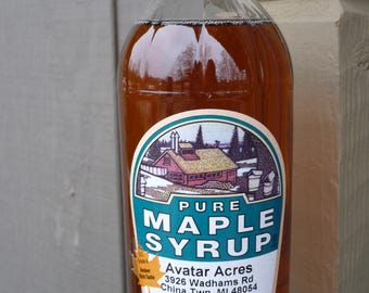 Pint - Homemade Maple Syrup - All Natural - No Preservatives or Additives