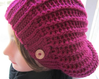 Slouch hat, Adult slouchy hat // Hand Crocheted // Many Sizes and colors to choose from