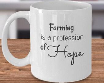 Farming Coffee Mug, Farm Kitchen Decor, Urban Country Decor, Farmer Life Mug, Farmhouse Coffee, Ceramic Farm Mug, Country Coffee Mug