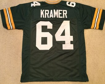 Green Bay Packers Jerry Kramer UNSIGNED CUSTOM Made Green Jersey