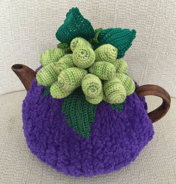 Té acogedor té morado cubierta verde uva té acogedor té