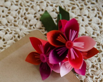 Colorful Paper Corsages