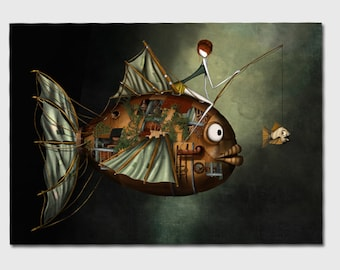 The Pisces- 11x8 or 16,5x11 inches fine art print- Signed - Printed by a professional