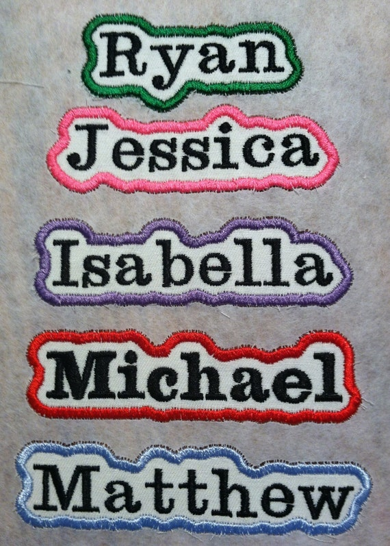 Custom Embroidered Name Patch Motorcycle Biker Tag Personalized Badges (NT6)