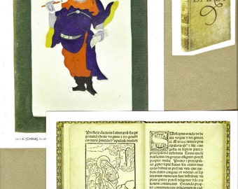 Rare Book Clip Art, Clipart, Collage Paper, Scrap Paper Pack, Paper Ephemera for Paper Arts, Collage, Scrapbooking, Decoupage PSS 2249