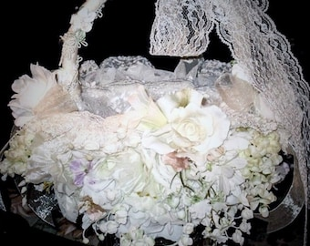FLOWER GIRL BASKET flower girl baskets Wedding accesssories Flower girl Baskets