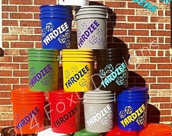 Yardzee Farkle Combo Bucket ONLY / Yardzee Yard Game / Yahtzee/ Farkle