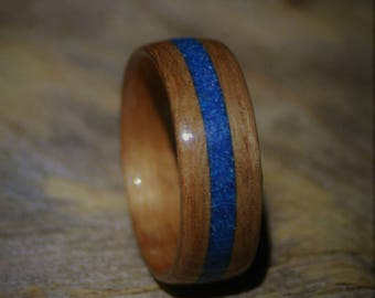Bentwood Red Grandis Wood Ring Anniversary Wedding Band