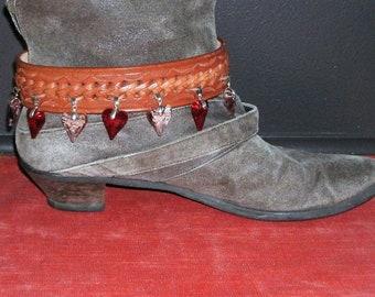Upcycled/Recycled Genuine Leather Boot Anklet / Bracelet de Cheville pour Bottes en Cuir Recyclé (GVBAB001)